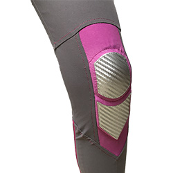 Elbows protection: padding + gum membrane